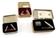 3 PIECE LOT OF CASE KNIFE & TIN COLLECTORS SETS