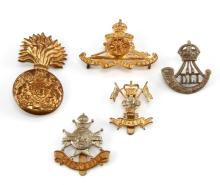 GROUPING OF 5 DIFFERENT BRITISH MILITARY BADGES
