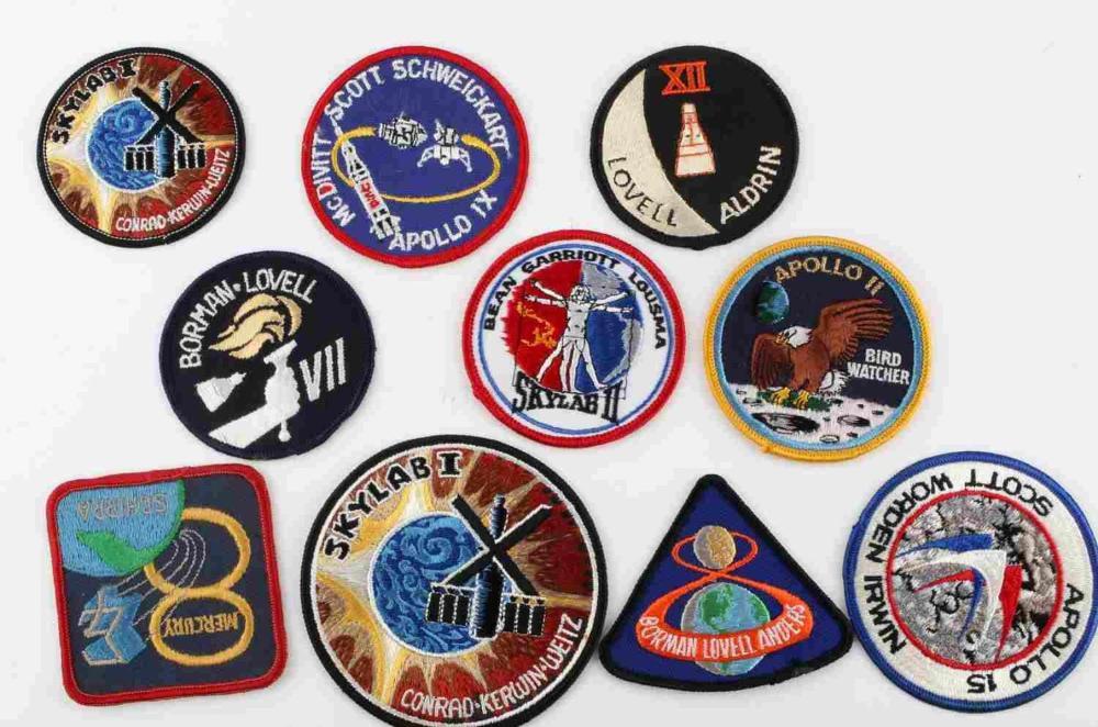 10 NASA ASTRONAUT APOLLO/SKYLAB ROCKET PATCHES