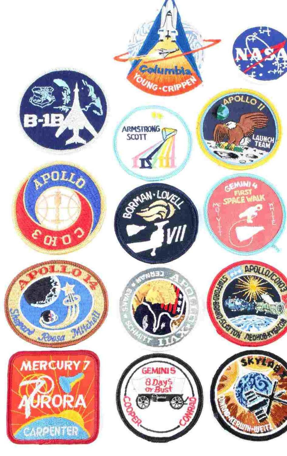 LOT OF 14 NASA SPACE SUIT MISSION ROCKET PATCHES
