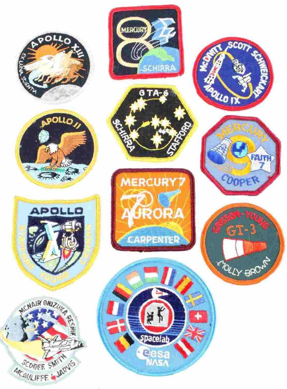LOT 11 NASA ASTRONAUT SPACE SUIT ROCKET PATCHES