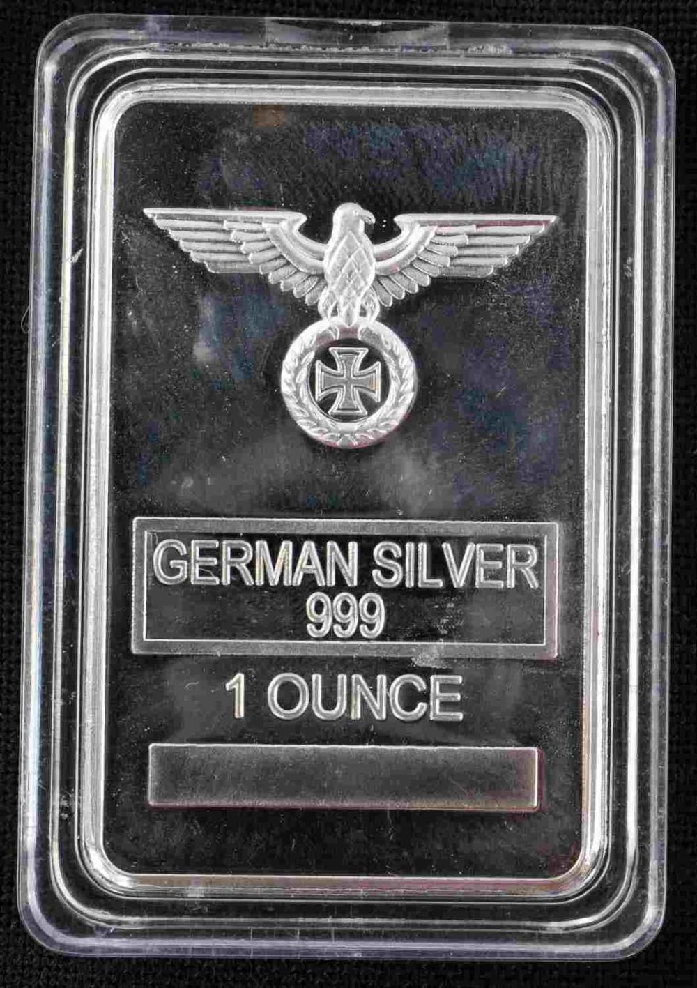 WWII GERMAN THIRD REICH GERMAN SILVER PLATE BAR
