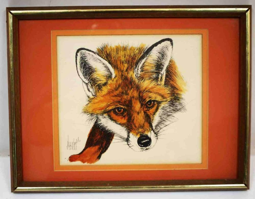 LEE CABLE AMERICAN WILDLIFE ARTIST RED FOX