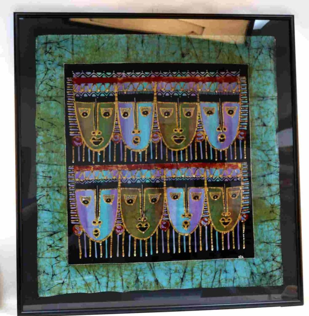 CONTEMPORARY TRIBAL BATIK FABRIC PAINTING BY DEA