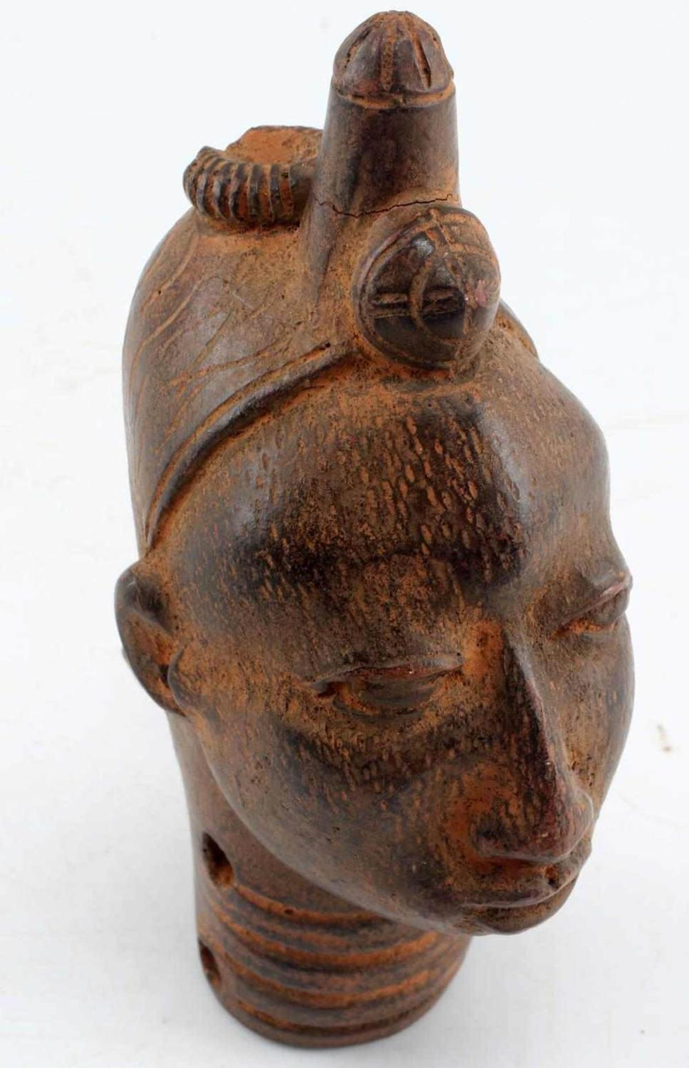 IFE NIGERIAN TERRACOTTA BUST OF ONI WEST AFRICA