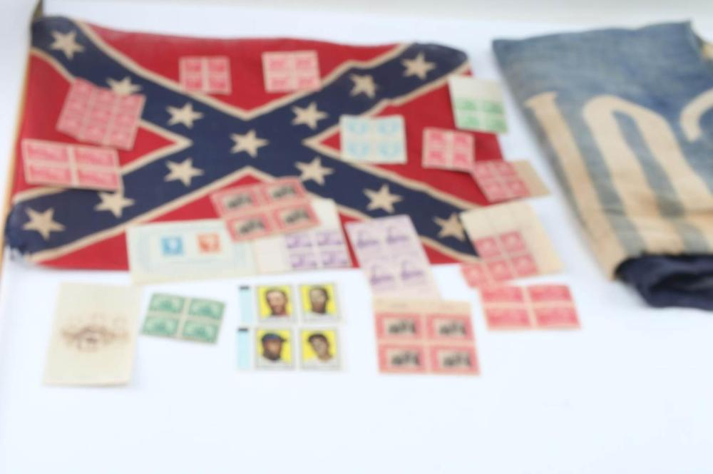 CONFEDERATE FLAG 13 STAR BANNER US POSTAGE STAMPS