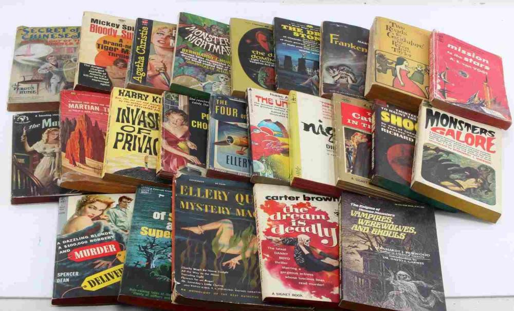 LOT SCIENCE FICTION MYSTERY NOVELS 1950S TO 1960S