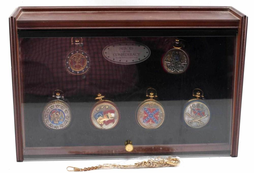 FRANKLIN MINT HEROES OF THE CONFEDERACY WATCH SET