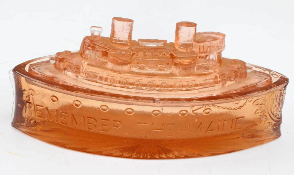 SPANISH AMERICAN WAR REMEMBER THE MAINE CANDY DISH