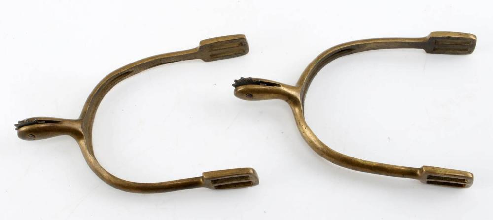 PAIR OF VINTAGE BRASS SPURS