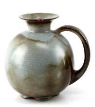 FRANK OMA CLAY TURQUOISE PITCHER