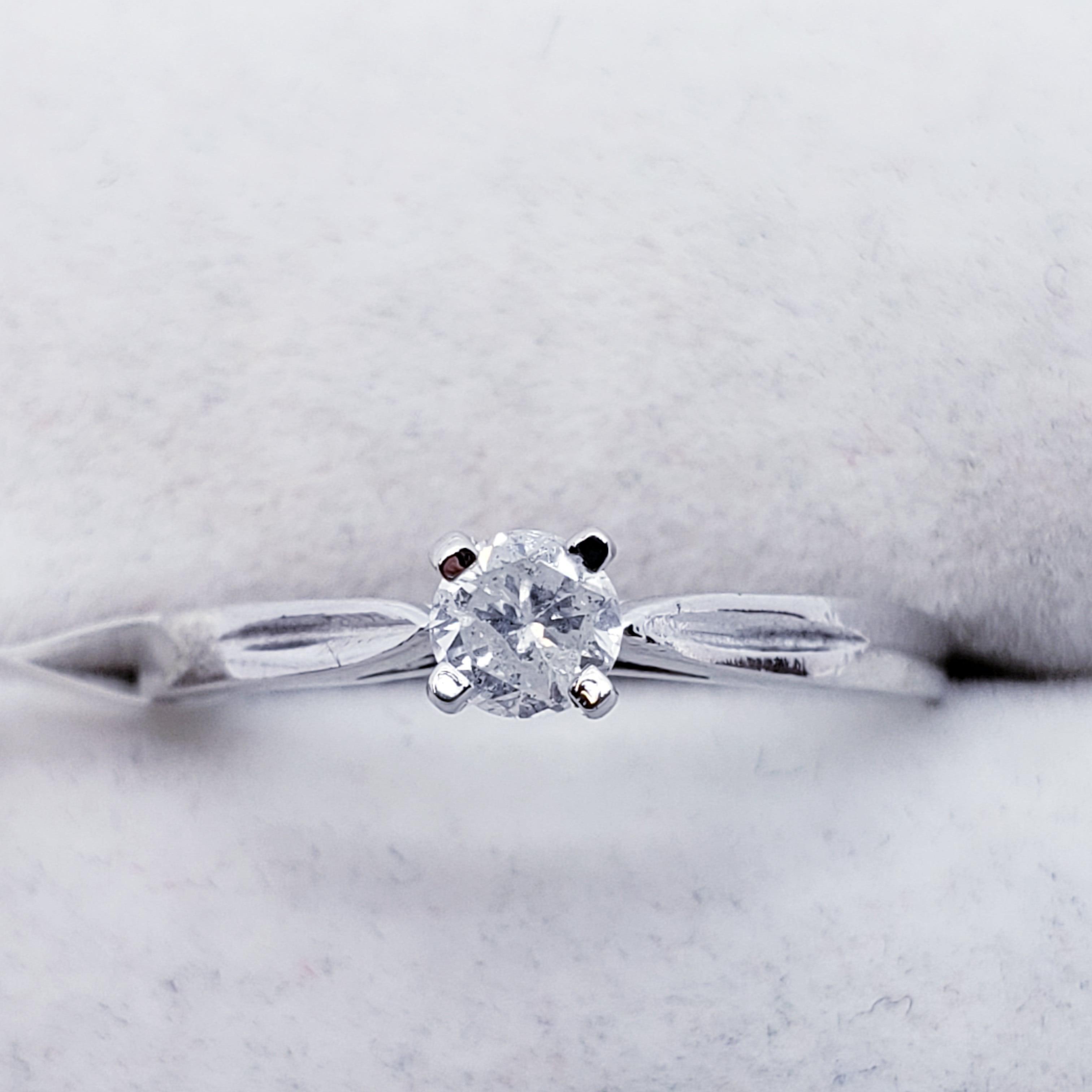 Certified 10K Diamond (I1)(0.17ct) Ring