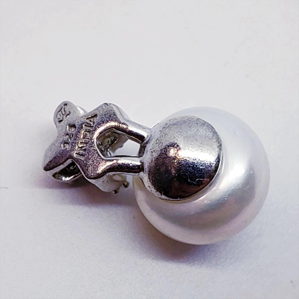 Silver Pearl Diamond Pendant