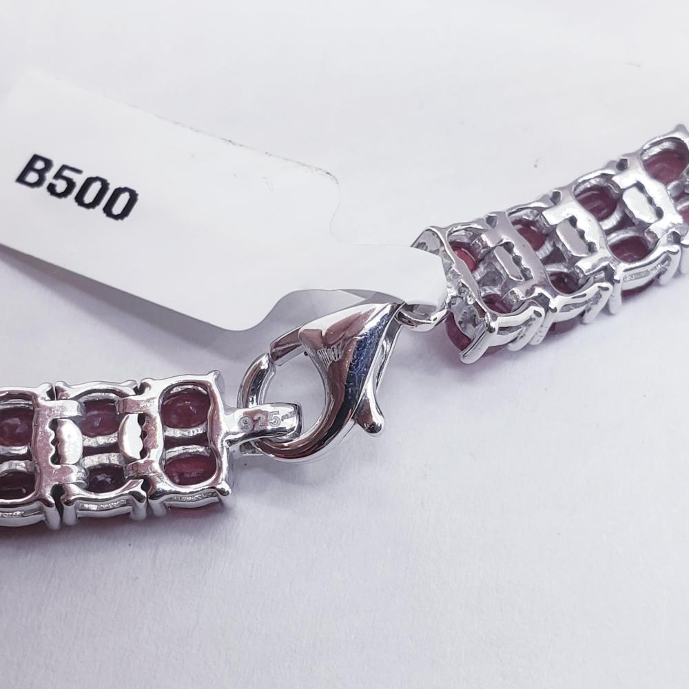 Certified Silver Ruby(13.4ct) Bracelet