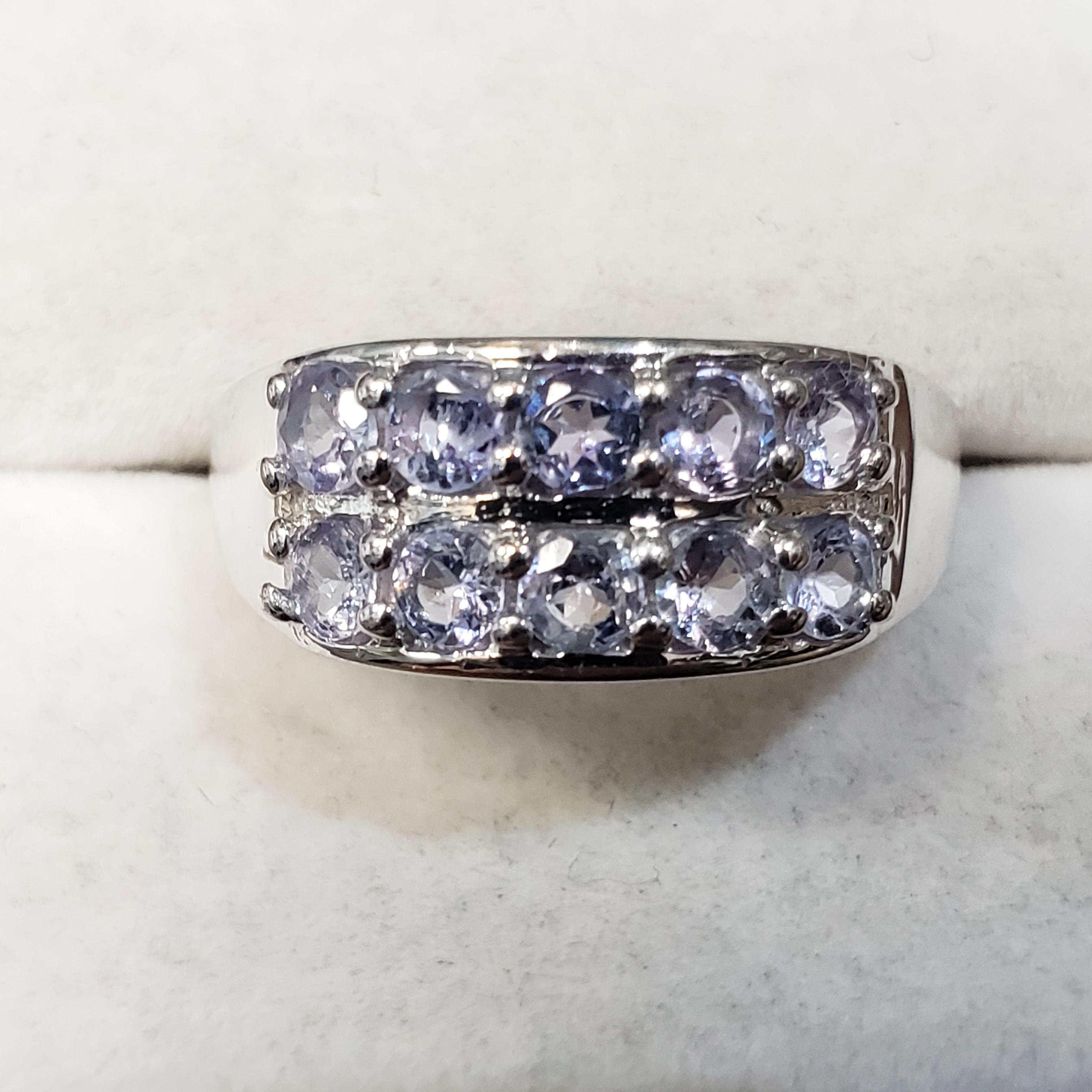 Silver Tanzanite(1ct) Ring