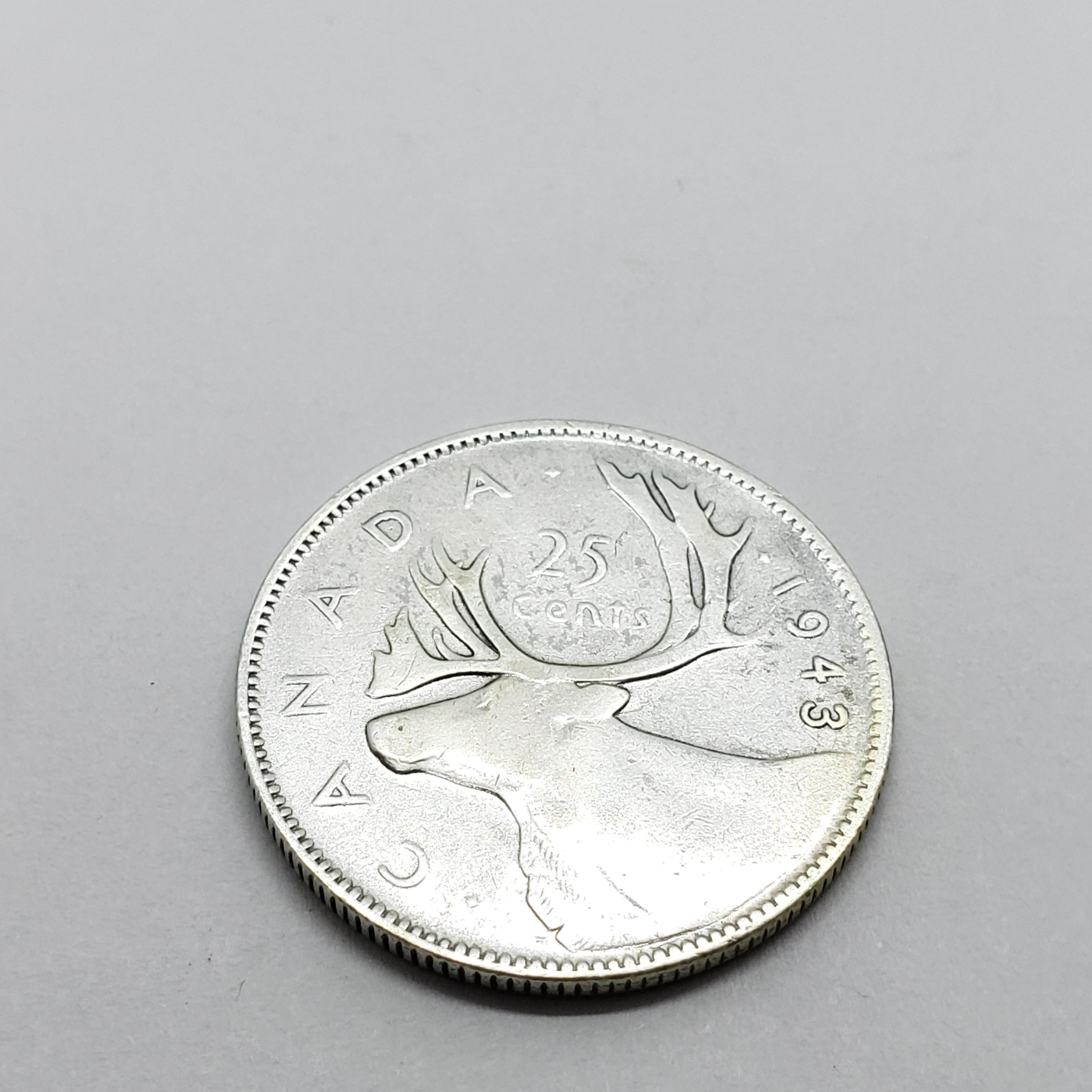 Silver Canadian 25Cent C