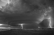 Mitch Dobrowner (b. 1956), Lightning Strikes, Oklahoma