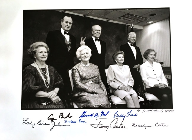 David Hume Kennerly (b. 1947) print signed by presidents and wives