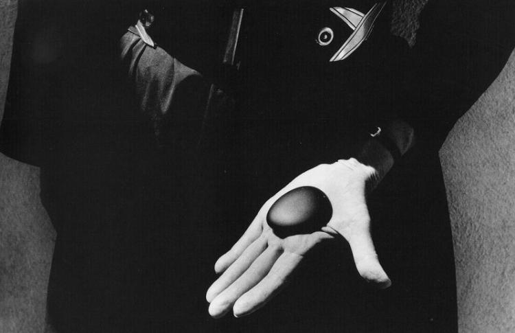 John Loengard (b. 1934), Georgia O'Keeffe Holds her Favorite Stone