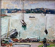 Isabel May Hunter Tweddle Australia, 1877-1945 Elizabeth Bay Oil on board 38x45cm Purchased from the artist, a family friend. The Estate of Stanley Crawford Stevens.