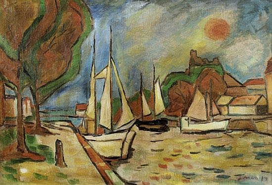 Jens Aabo (20. Jahrhundert), Öl auf Leinwand von