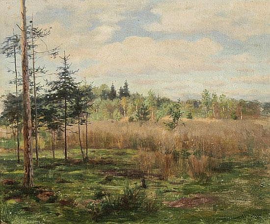 Ernst von Saucken (1856 - 1920) - Öl auf Malkarton