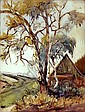 Rudolf Poeschmann (1878 - 1954) - Aquarell mit, Rudolf Poeschmann, Click for value