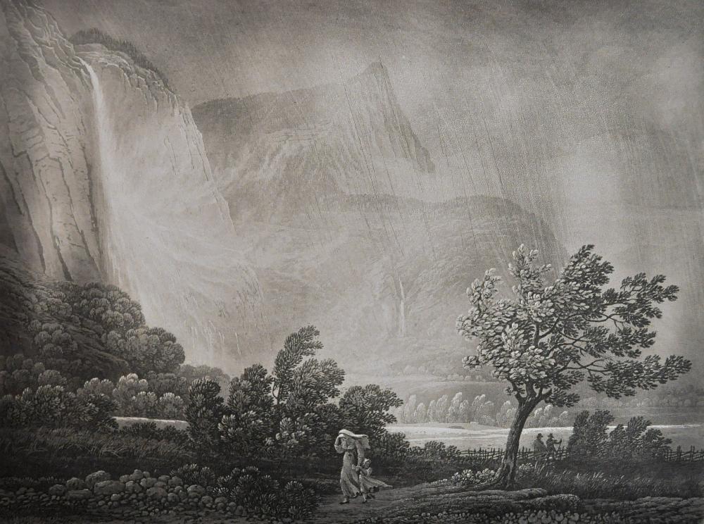 BIRMANN (Samuel). Souvenirs de la vallée de Chamonix. Basle, Birmann et fils, s.d. 1826. In-folio, cartonnage avec titre sur le premier plat, non rogné.