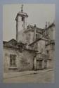 THALER (Henri). Besançon. Quarante dessins. Besançon, Librairie Marion, 1930. In-4, en feuilles, chemise demi-toile à lacets de l'éditeur