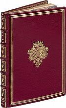 DISCOURS VÉRITABLE de la victoire obtenue par le Roy, en la bataille donnée pres le bourg d'Ivry, le Mercredy xiiii jour de Mars, mil cinq cents quatre vingt dix. Caen, Jacques le Bas, 1590. In-16, maroquin rouge, triple filet doré, armoiries