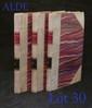 [RESTIF DE LA BRETONNE (Nicolas-Edme)]. Philosophie de Monsieur-Nicolas. Par l'Auteur du Caeur-Humain-dévoilé. Paris, de l'Imprimerie du Cercle-Social, (1796) l'an V de la République Française. 3 volumes in-12, demi-vélin ivoire avec coins, dos