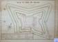 [ANONYME]. Plan du fort de Pecais. [milieu XVIIIe siècle]. 314 x 429 mm.