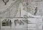 BEAURAIN (Jean de). [MINORQUE] Plan de la ville et du Port Mahon et du fort St. Philippe tel qu'il étoit fortifié en 1706 par les Espagnols. Paris, le Chevalier de Beaurain, [1756]. En deux feuilles jointes de 451 x 912 mm.