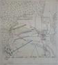 Guerre de succession d'Autriche. Deux plans manuscrits, encre noire et aquarelle. Échelles en toises.