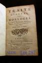 ALLEXANDRE (Dom Jacques). Traité général des horloges. Paris, Hippolyte-Louis Guérin & Jacques Guérin, 1734. In-8, veau brun, dos orné, pièce de titre rouge, tranches jaspées (Reliure de l'époque).