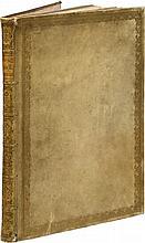 RUSCONI (G. A.). Della architettura... Venise, Gioliti, 1590, in-folio de 78 ff. sign. [a]-c2, A-Z2, AA-NN2, vélin ivoire, roulette et filet dorés autour des plats, dos lisse orné, tranches bleues (reliure italienne du XVIIIe siècle).