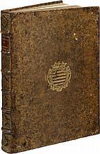 DAN (P.). Le Trésor des merveilles de la maison de Fontainebleau... Paris, S. Cramoisy, 1642, in-folio, veau granité, armes au centre des plats, dos à nerfs orné, tranches dorées (reliure de l'époque).