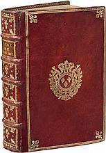 [PATAS]. Sacre et couronnement de Louis XVI, Roi de France et de Navarre... Paris, Chez Vente, 1775, in-8°, maroquin rouge, filets dorés autour des plats, fleur de lys en angle, armes au centre, dos à nerfs orné d'une fleur de lys plusieurs fois