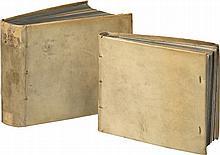 ZEISING (H.). Theatri machinarum. Leipzigk et Altenburg, Grossen - Liegern - Meuschken - Jansonium, 1614-1629, 6parties en 2 vol. in-8° oblong, vélin ivoire, dos lisses, traces de lacets, tranches bleutées (reliure de l'époque).