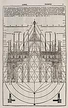VITRUVE (Marcus Vitruvius Pollio, dit). De architectura libri decem... Côme, Gottardo da Ponte, 15 juillet 1521, in-folio de 192 ff. sign. ?8, A-Z8, veau brun sur ais de bois, plats ornés d'un grand décor estampé à froid, avec roulettes et
