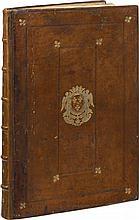 COLONNA (F.). Hypnerotomachie ou discours du songe de Poliphile, ... Paris, J. Kerver, 1546, in-folio de 164 ff. sign. ā*6, A-Z6, Aa-Bb6, Cc8, veau fauve, filets à froid autour des plats avec fer doré en angles, armes au centre, dos à nerfs