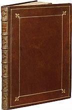BARRIÈRE (D.). Villa Pamphilia, eiusque palatium, cum suis prospectibus, statuae, fontes, vivaria, theatri, assolae, plantarum... Rome, Iacobi de Rubeis, s. d. [ca 1666], in-folio de 2 ff. de texte et 84 planches, maroquin rouge, filets dorés autour