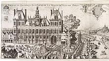 CHASTILLON (Cl. de). Topographie française ou représentation de plusieurs villes, bourgs, chasteaux, maisons de plaisance, ruines... [Paris], Boisseau, 1641 (?), in-folio, vélin rigide, tranches lisses (reliure ancienne).