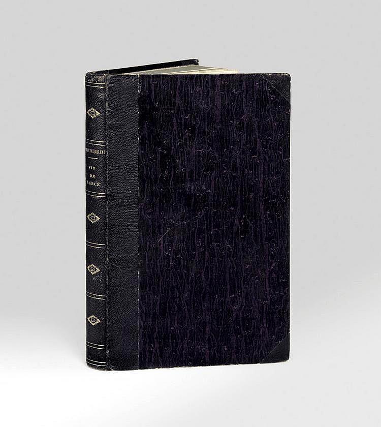 CHATEAUBRIAND (François-René de). Vie de Rancé. Paris, H.-L. Delloye, s.d. 1844. In-8, demi-chagrin violet avec petits coins, dos lisse orné, tranches mouchetées de bleu (Reliure de l'époque).