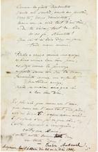 Théodore AUBANEL (1829-1886) poète provençal et éditeur. 9 poèmes autographes (dont 6 signés), [1851-1862]; 16 pages in-8; en provençal.