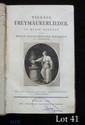 Johann Gottlieb NAUMANN (1741-1801). Vierzig Freymäurerlieder. Zum Gebrauch der deutschen and französischen Tafellogen (Berlin, Chrsitian Freidriech Himburg, 1782) ; in-8, cartonnage de l'époque, 10 et 144 pp.