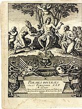 FURETIÈRE (Antoine). Poësies diverses. Paris, Guillaume de Luynes, 1655. In-4, vélin ivoire, dos lisse muet, tranches lisses (Reliure de l'époque).