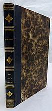HUGO (Victor). Les Voix intérieures. Paris, Eugène Renduel, 1837. In-8, demi-basane glacée bleu nuit, dos lisse orné de motifs dorés, tranches mouchetées (Reliure de l'époque).