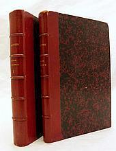 GAUTIER (Théophile). Voyage en Russie. Paris, Charpentier, 1867. 2 volumes in-12, demi-basane maroquinée rouge, non rogné (Reliure de l'époque).
