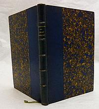 CHAMPFLEURY. Chien-Caillou, fantaisies d'hiver. Paris, Martinon, 1847. In-8, demi-maroquin bleu roi, tête dorée, non rogné (Reliure de l'époque).